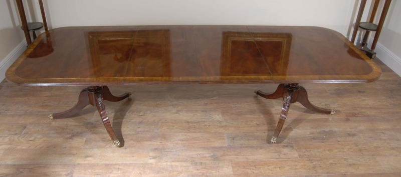 Photo of Regency Dining Set Table & Chairs Mahogany Suite