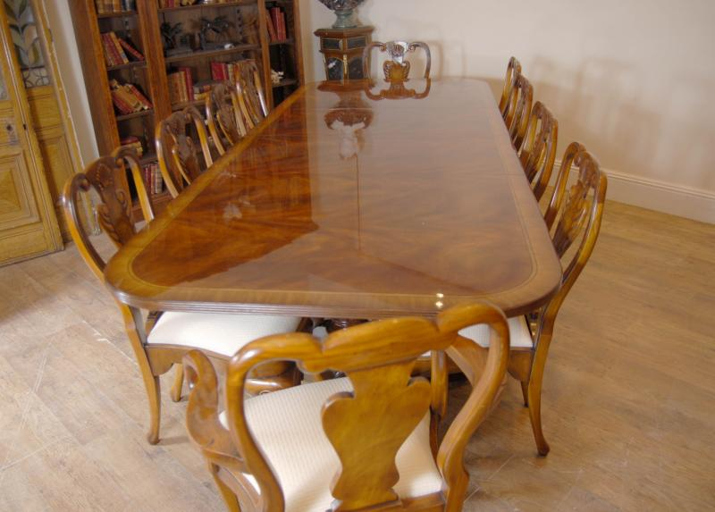 Photo of Regency Table & Set Queen Anne Dining Chairs