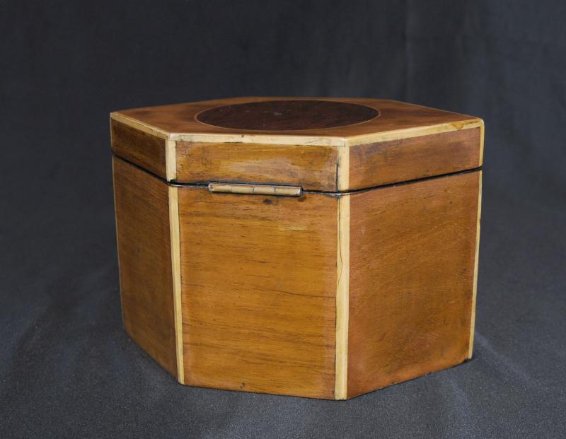 Photo of Regency Tea Caddy Inlay Lozenge Caddies Box