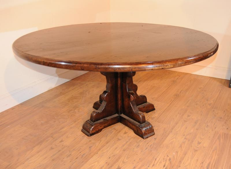 Photo Of Round Oak Farmhouse Refectory Table Kitchen Dining
