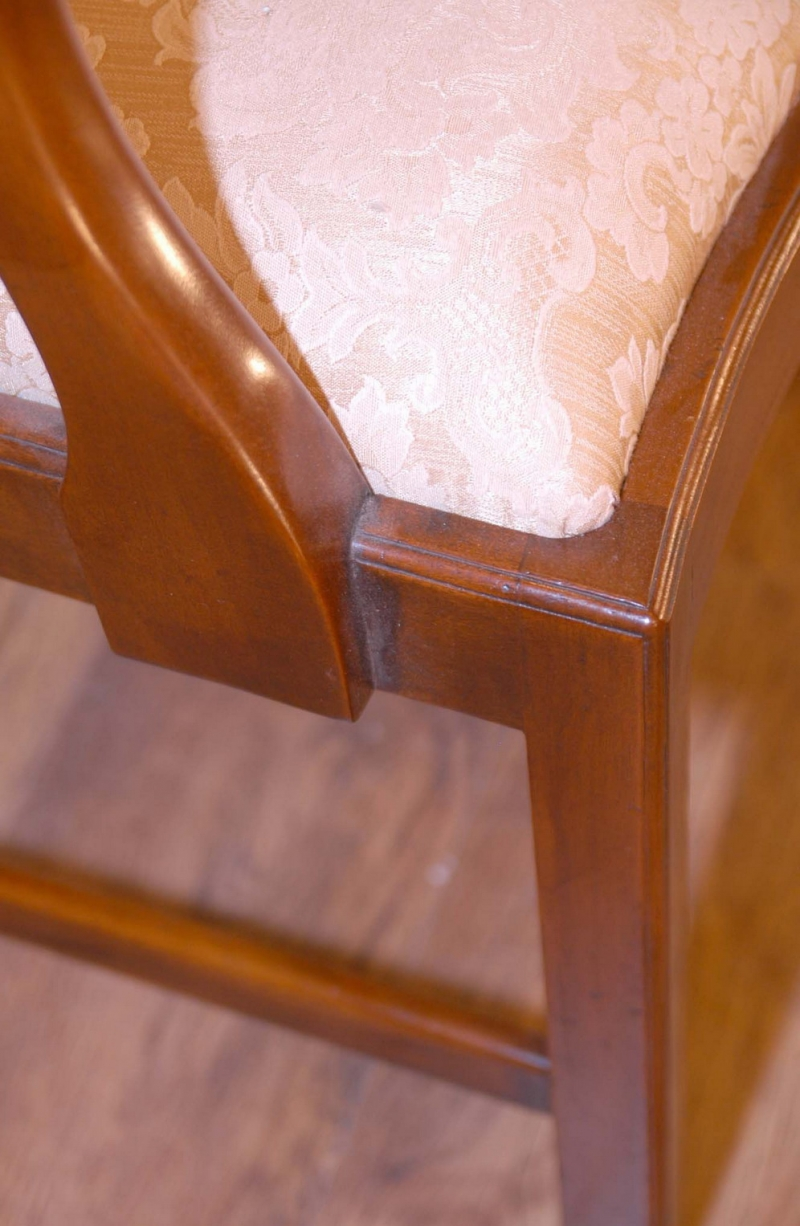 Photo of Set 10 English Chippendale Dining Chairs Harp Backs