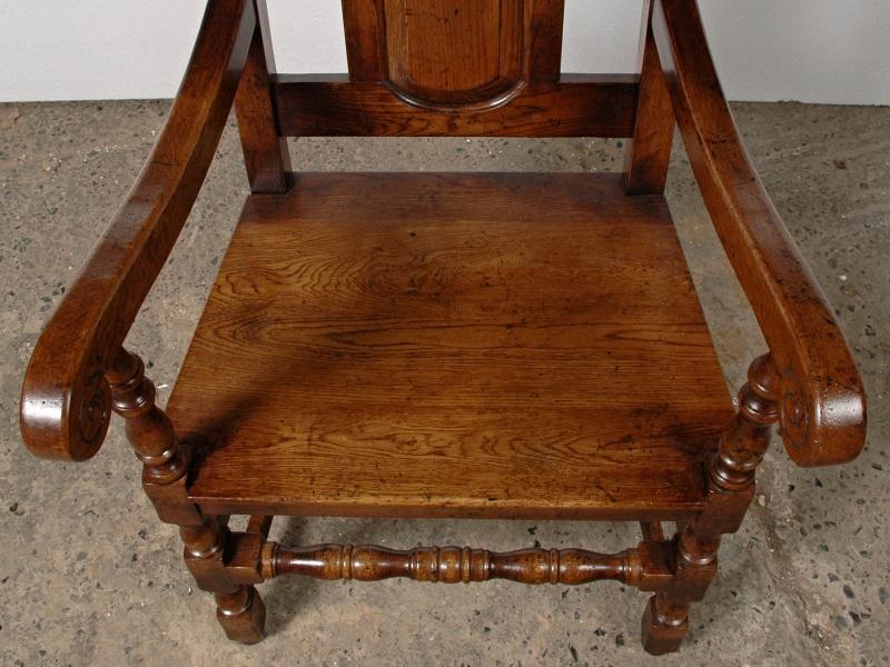 Photo of Set 8 English Elizabethan Tudor Oak Dining Chairs Chair