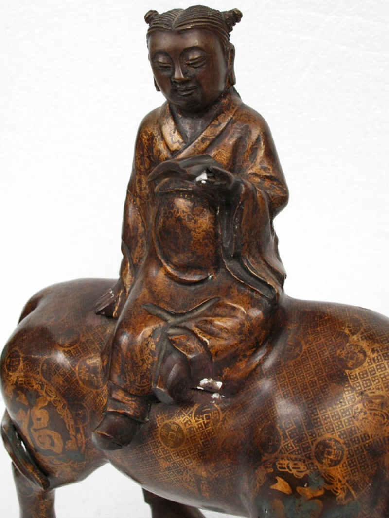 Photo of Tang Chinese Water Buffalow and Confucianism Scholar
