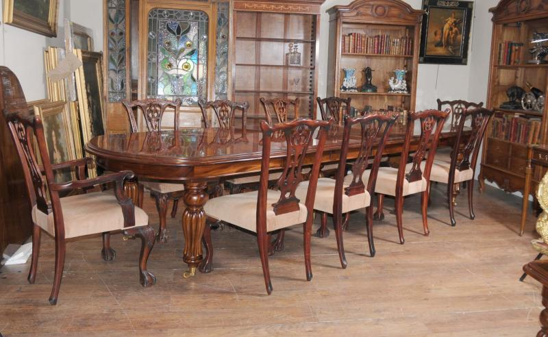 Piece Description.   Victorian Style Dining Table ...
