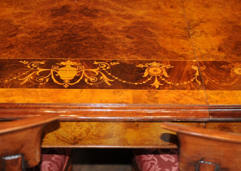 Photo of Victorian Dining Table William IV Chairs Set Walnut