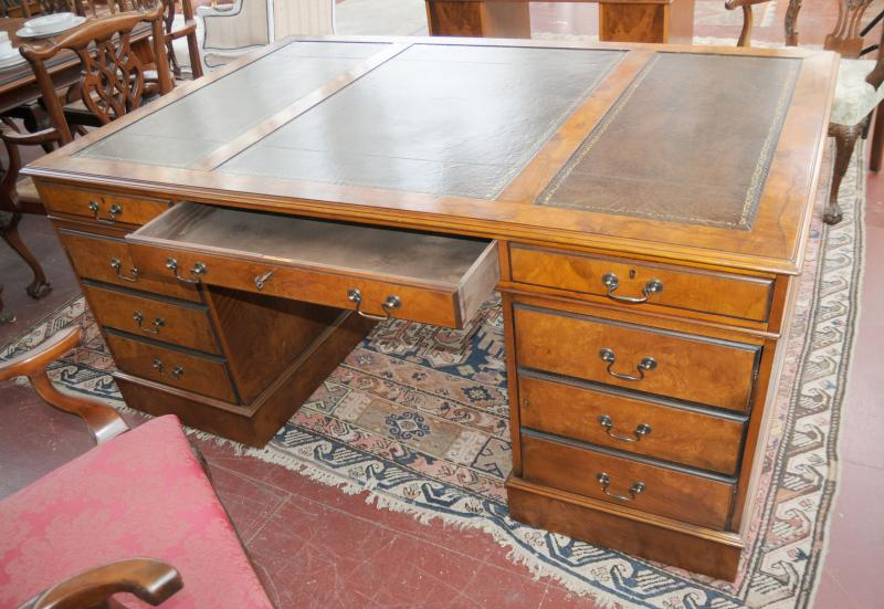 Photo of Victorian Walnut True Partners Desk Writing Table