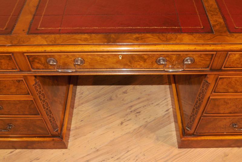 Photo of Walnut Georgian Partners Desk George II Writing Table
