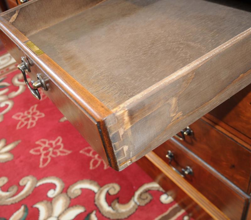 Photo of Walnut Knee Hole Pedestal Desk George II Georgian