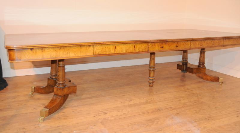Photo of Walnut Regency Extending Dining Table Split Base