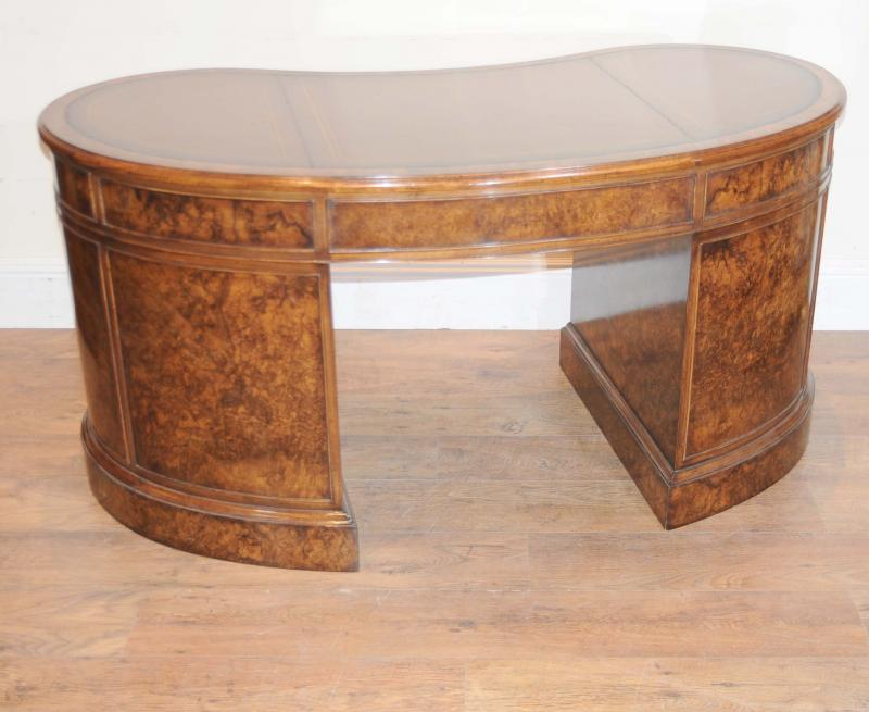 Photo of Walnut Victorian Kidney Desk Writing Table