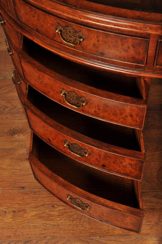 Photo of Walnut Victorian Oval Partners Desk Desks