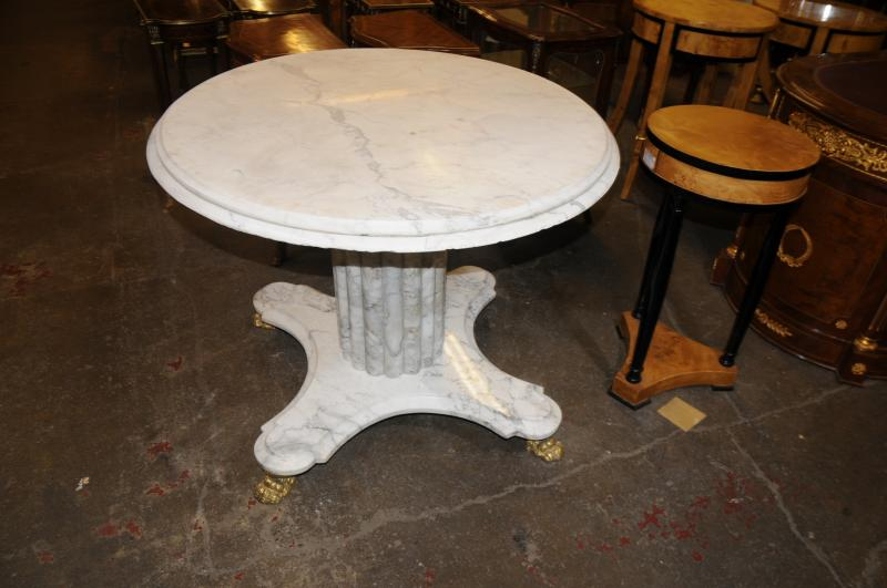 Photo of White Italian Marble Centre Table Round Dining Tables